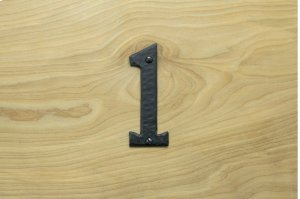 "1 Black 4"" Mailbox House Number 450150 Product Image"