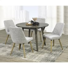Mira/Mia 5pc Dining Set, Grey/Light Grey