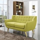 Remark Upholstered Fabric Loveseat in Wheatgrass Product Image