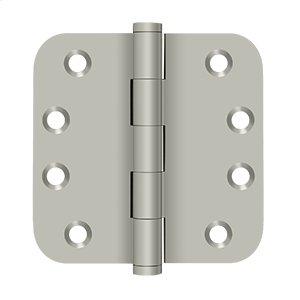 "4"" x 4"" x 5/8"" Radius Hinges Residential - Brushed Nickel Product Image"