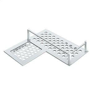 """Bathroom Basket HD Corner Left 9"""" - Polished Chrome Product Image"""