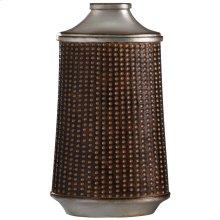 Winthrop Bronze & Khashi Silver  17in Accessory Vase