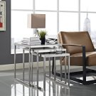 Rail Stainless Steel Nesting Table in Silver Product Image