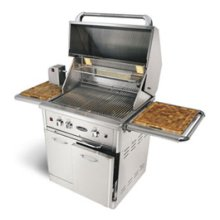 """30"""" grill on cart + lights + rotisserie + 2 ss burners (No assembly required)"""