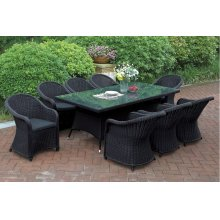 232 / Liz.p24- 9PC OUTDOOR PATIO TABLE SET [P50271(1)+P50134(8)]