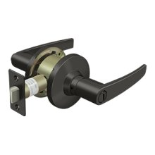 Comm, Privacy Standard Grade 2, Straight Lever - Oil-rubbed Bronze
