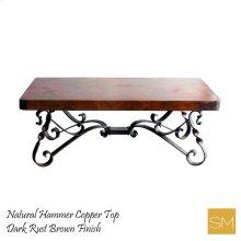 Hammer Copper Rectangular Coffee Table
