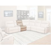 DYLAN - CREME Manual Armless Recliner Product Image