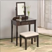 Iris Vanity Tbl & Stool Faux Marble Product Image