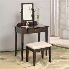 Iris Vanity Tbl & Stool Faux Marble