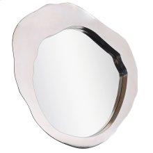 MILLER MIRROR- Silver  Silver Finish on Metal Frame  Plain Glass Beveled Mirror
