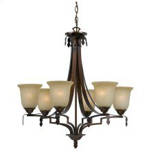 60W X 6 Dabois 6 Light Chandelier