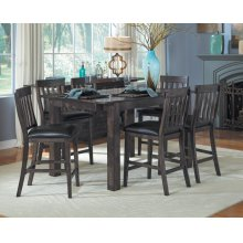 7 PIECE SET (TABLE AND 6 BARSTOOLS)
