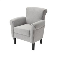 Mims Chair In Grey Linen With Black Legs