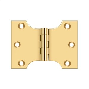 """3"""" x 4"""" Hinge - PVD Polished Brass Product Image"""