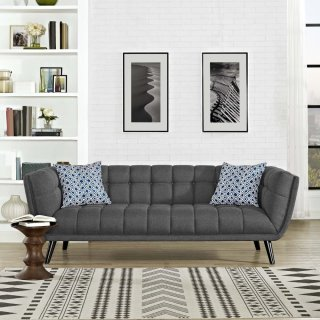Bestow Upholstered Fabric Sofa in Gray