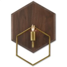 Double Hex Wall Sconce