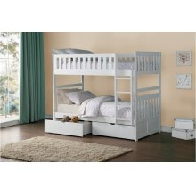 Twin/Twin Bunk Bed with Storage Boxes