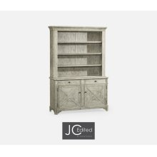 Rustic Grey China Cabinet