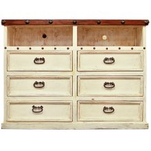 Don Carlos White TV Dresser
