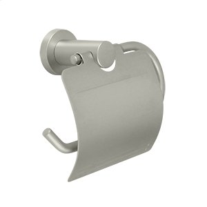 Toilet Paper Holder Single Post w/Cover, BBN Series - Brushed Nickel Product Image