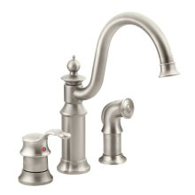 Waterhill spot resist stainless one-handle kitchen faucet