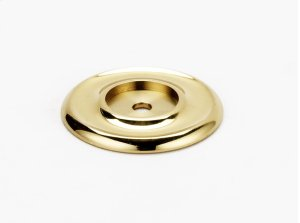 Traditional Backplate A615-45 - Unlacquered Brass Product Image