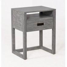 Vadstena Solid Wood Night Stand - Grey