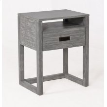 Vadstena Solid Wood Night Stand - Grey