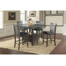 The Max Collection - 5pc. Dark Mission (Distressed) Dining Set Product Image