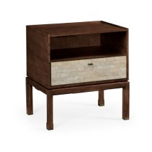 Small Natural Walnut Bedside Table