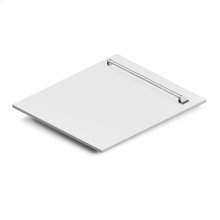 "24"" Dishwasher Panel in White Matte with Traditional Handle (DP-WM-24)"