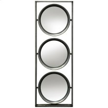 Metal Wall Mirror  9in X 26in