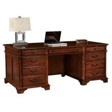 Weathered Cherry Executive Desk