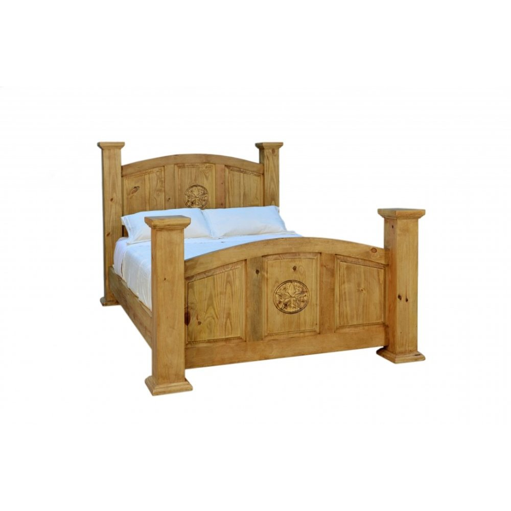Traditional Mansion Full Bed With Texas Star