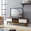 "Envision 59"" TV Stand in Walnut White Product Image"