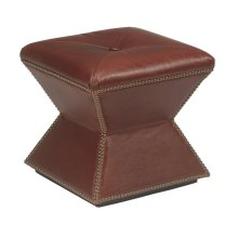 Faceted Ottoman (Leather)