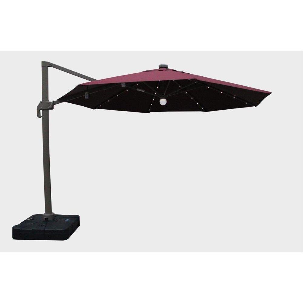 Renava Tortola Outdoor Red Umbrella w/ Lights