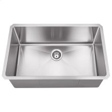 "Stainless Steel (16 Gauge) Fabricated Kitchen Sink. 304 SS with Satin Finish. Overall Measurements: 30"" x 18"" x 10-3/8"""