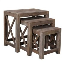 Bengal Manor Acacia Wood Set of Nested Tables