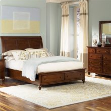 Queen Storage Bed, Dresser & Mirror, N/S
