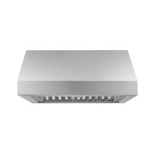 "Heritage 30"" Pro Wall Hood, 12"" High, Silver Stainless Steel"