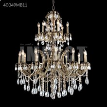Monaco Cast Brass Large Entry Crystal Chandelier
