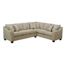 Calvina - Rsf Corner Sofa Cream W/4 Pillows