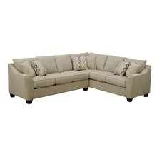 Calvina - Rsf Corner Sofa Cream W/4 Pillows