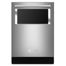 44 dBA Dishwasher with Window and Lighted Interior - Stainless Steel