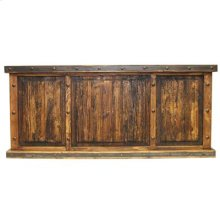 Recycled wood panels Laguna desk with 3 copper panels