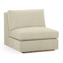 "36"" Hamilton Golden Ale Oak Centre Sofa Sectional, Upholstered in Synergy"
