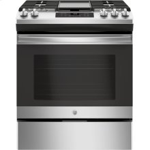"GE® 30"" Slide-In Front Control Gas Range (OPEN BOX CLOSE OUT)"
