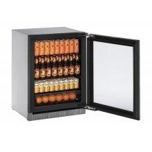 "24"" Glass Door Refrigerator Integrated Frame Right-Hand Hinge"